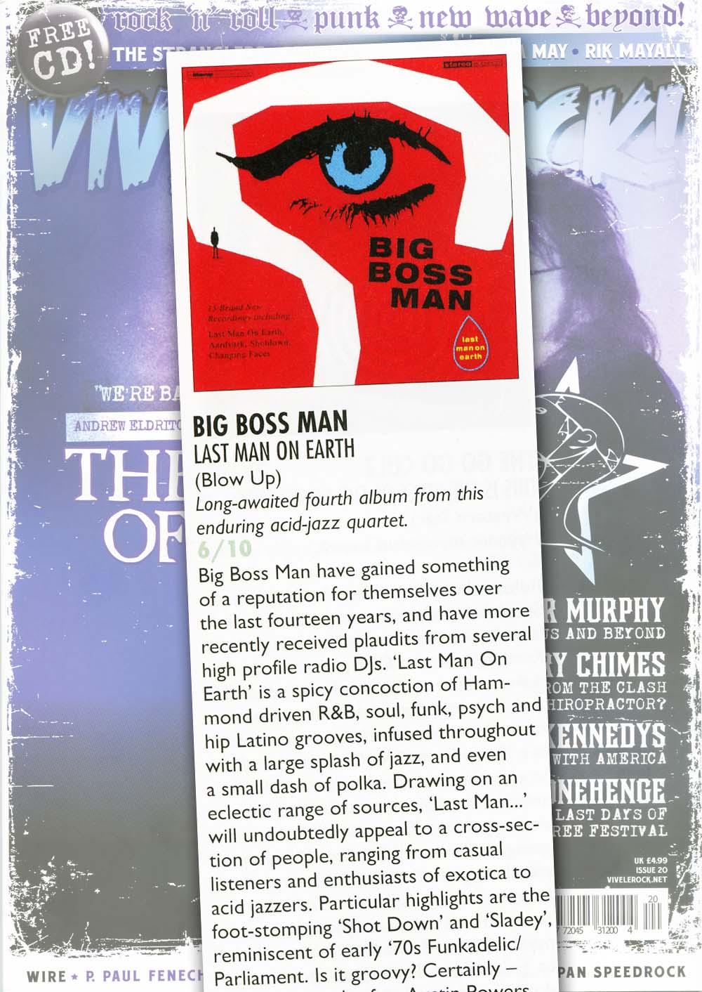 Vive Le Rock Last Man On Earth Album Review Big Boss Man