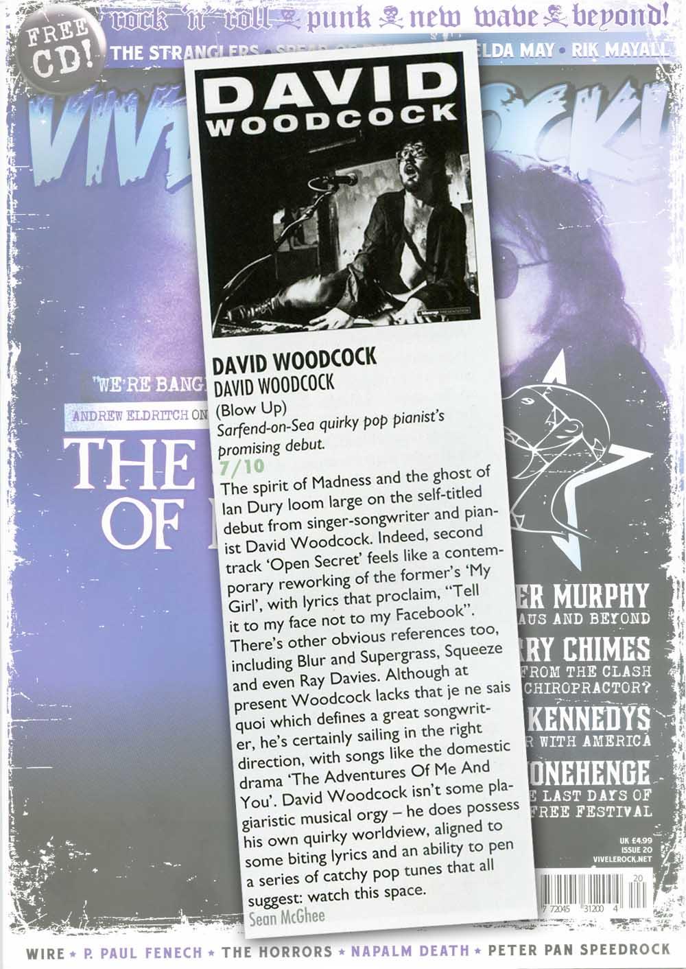 Vive Le Rock David Woodcock Album Review