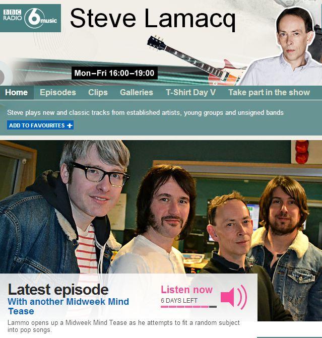 Alfa 9 'New Favourite Band' BBC 6Music Steve Lamacq Show
