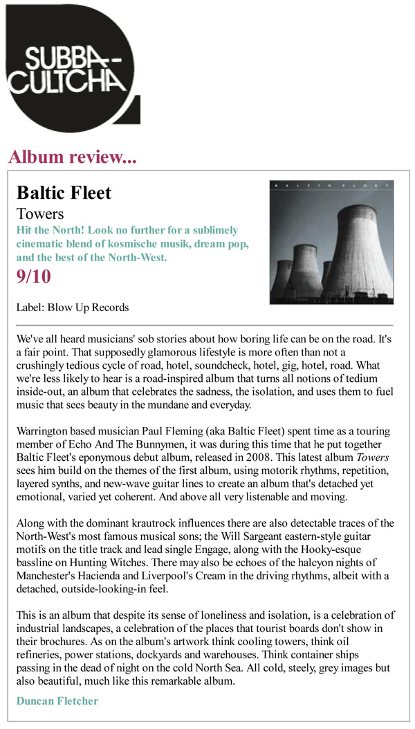 Subba-Cultcha Towers Baltic Fleet Review